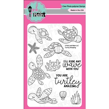 Pink and Main TURTLEY AMAZING Clear Stamps PM0288