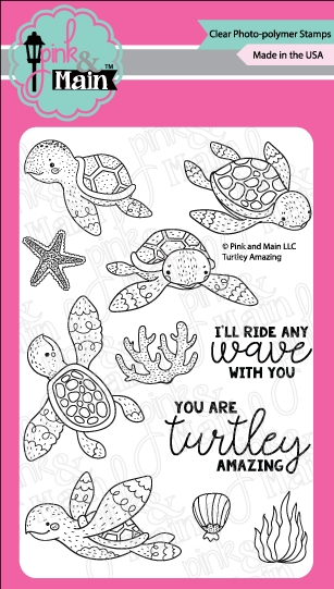 Pink and Main TURTLEY AMAZING Clear Stamps PM0288 zoom image