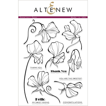 Altenew SWEETEST PEAS Clear Stamps ALT2338