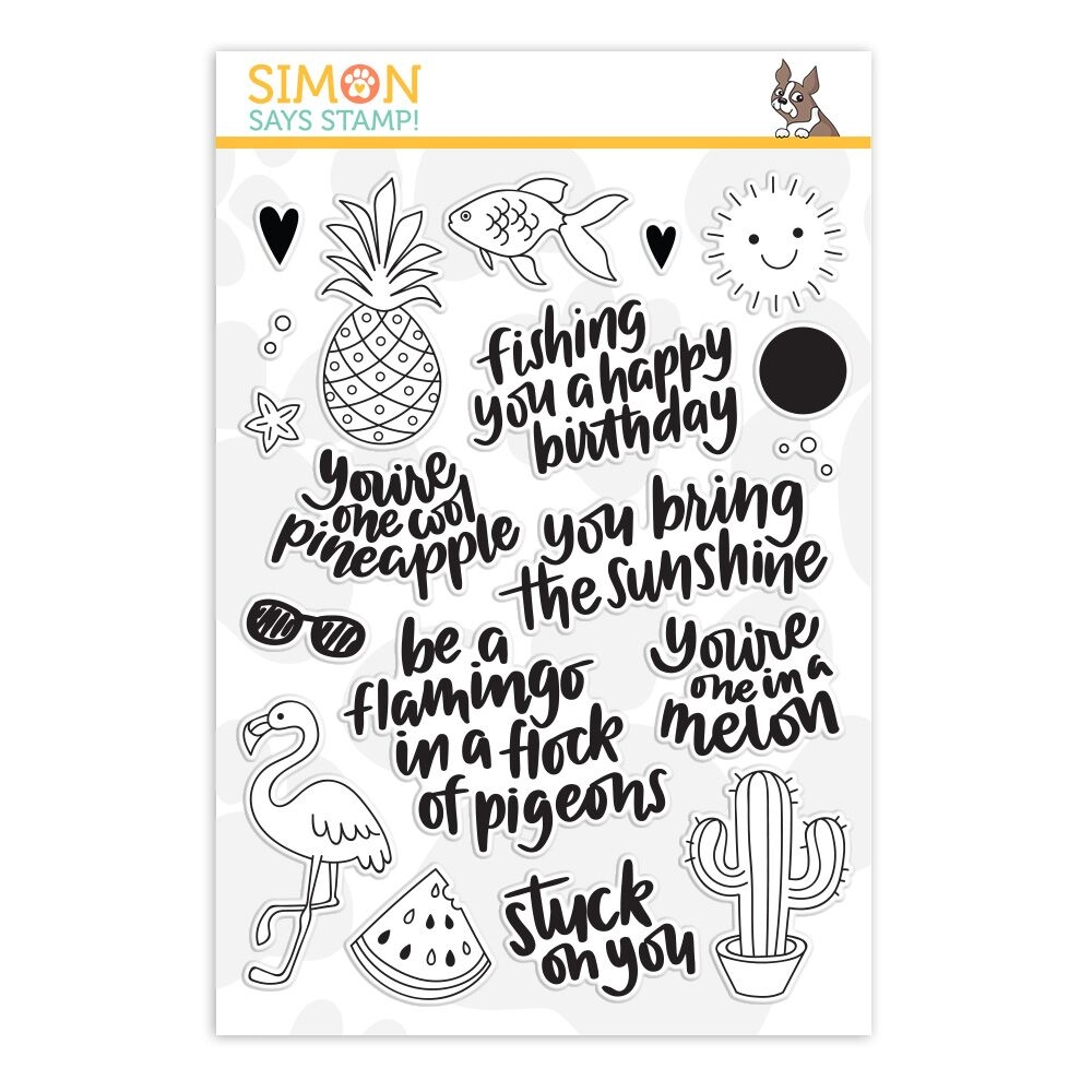 Simon Says Clear Stamps ONE COOL PINEAPPLE sss101827 zoom image