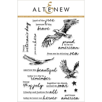 Altenew LAND OF THE FREE Clear Stamps ALT2327