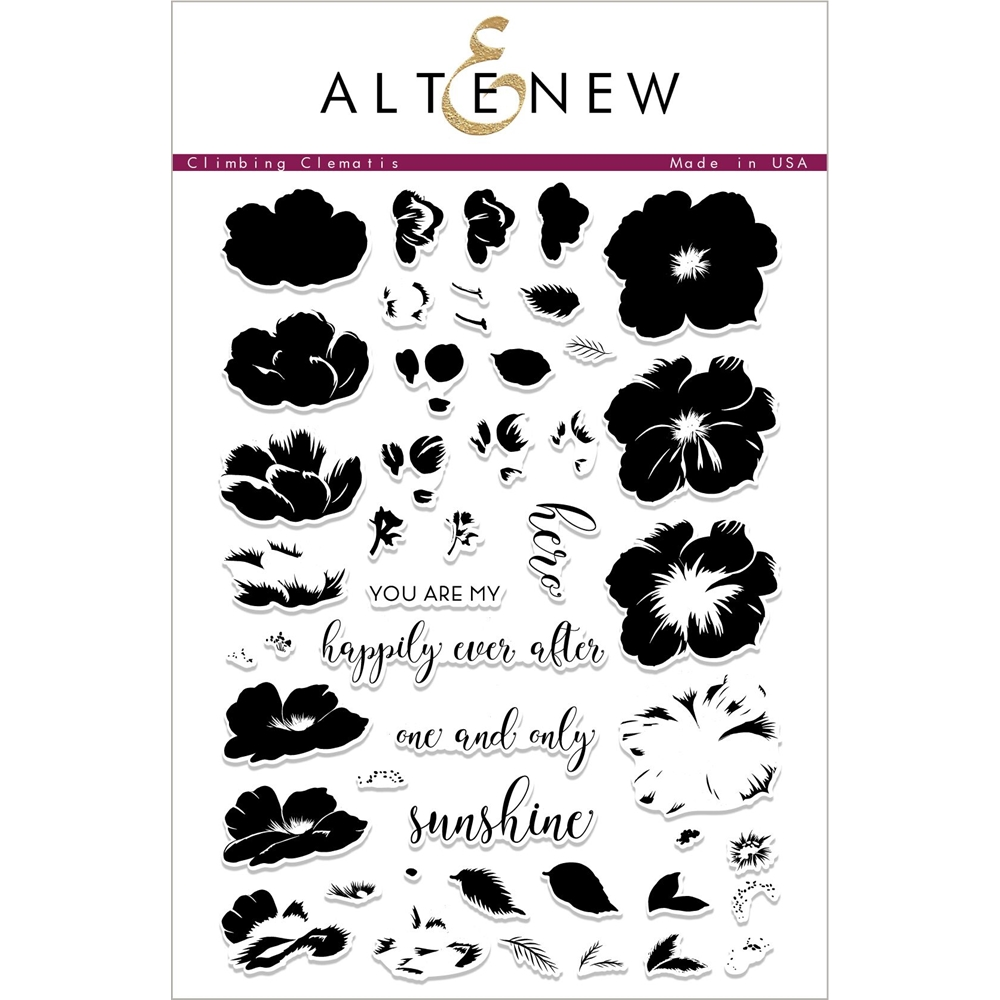 Altenew CLIMBING CLEMATIS Clear Stamps ALT2321 zoom image