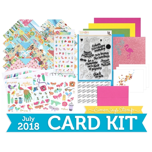 Simon Says Stamp Card Kit of The Month JULY 2018 COOL SUMMER ck0718 Preview Image