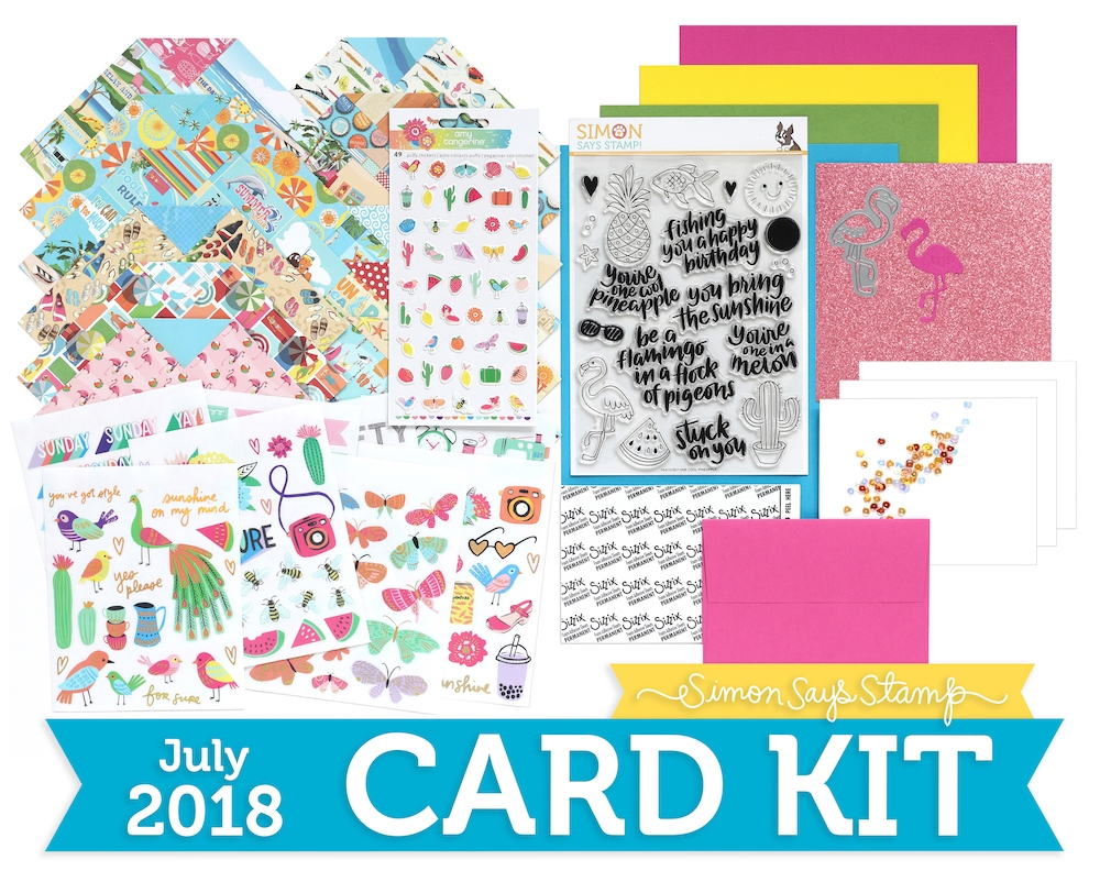 Simon Says Stamp Card Kit of The Month JULY 2018 COOL SUMMER ck0718 zoom image