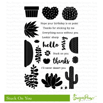 SugarPea Designs STUCK ON YOU Clear Stamp Set spd-00294