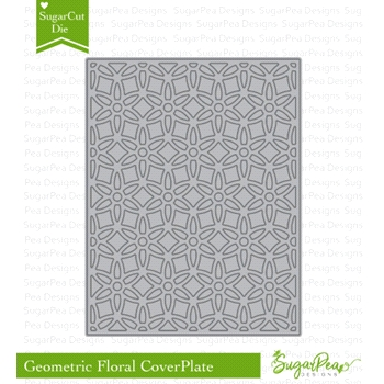 SugarPea Designs GEO FLORAL COVER PLATE SugarCuts Die spd-00296