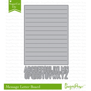SugarPea Designs LETTER MESSAGE BOARD SugarCuts Dies spd-00297