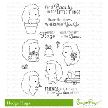 SugarPea Designs HEDGE HUGS Clear Stamp Set spd-00298