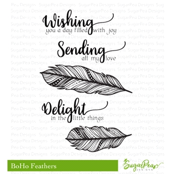 SugarPea Designs BOHO FEATHERS Clear Stamp Set spd-00300