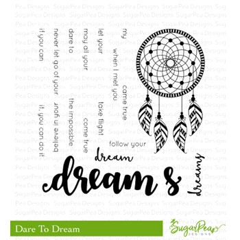 SugarPea Designs DARE TO DREAM Clear Stamp Set spd-00302