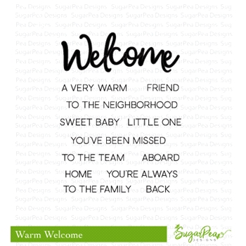 SugarPea Designs WARM WELCOME Clear Stamp Set spd-00305