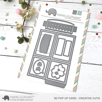 Mama Elephant 3D POP UP CARD Creative Cuts Steel Dies