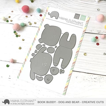 Mama Elephant BOOK BUDDY Creative Cuts Steel Dies
