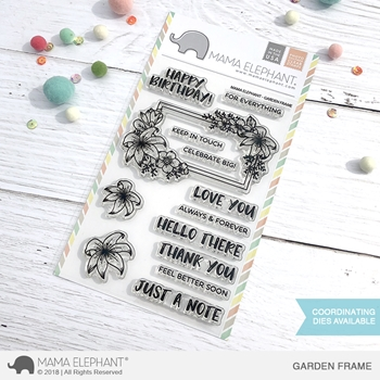 Mama Elephant Clear Stamps GARDEN FRAMES