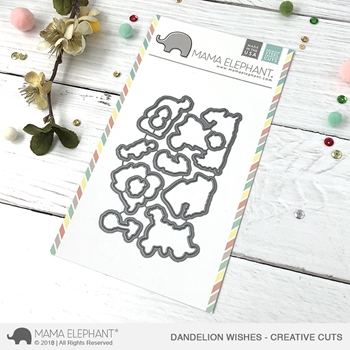 Mama Elephant DANDELION WISHES Creative Cuts Steel Dies