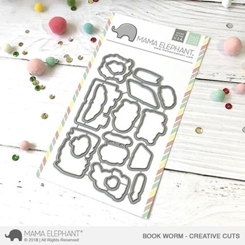 Mama Elephant BOOK WORM Creative Cuts Steel Dies