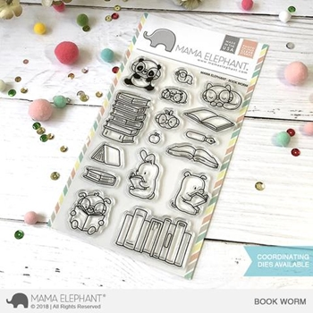 Mama Elephant Clear Stamps BOOK WORM