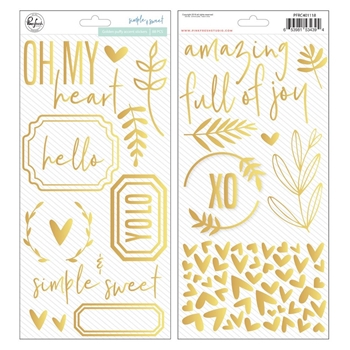 Pinkfresh Studio SIMPLE & SWEET Puffy Accent Stickers pfrc401118
