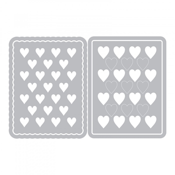 Sizzix HEARTS JOURNALING CARDS Thinlits Die Set 662812