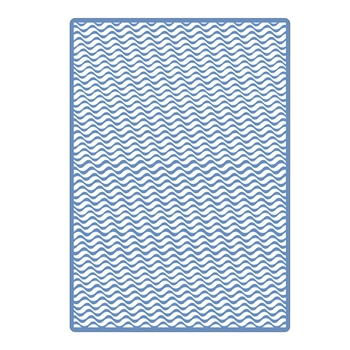 Sizzix Textured Impressions Plus OLAS (WAVES) Embossing Folder 662960
