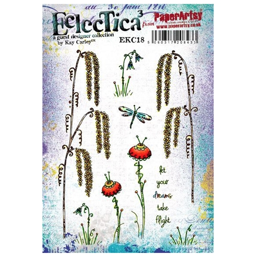 Paper Artsy ECLECTICA3 KAY CARLEY 18 Rubber Cling Stamp ekc18 Preview Image