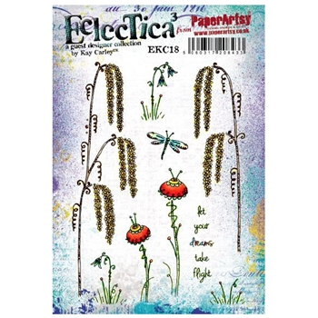 Paper Artsy ECLECTICA3 KAY CARLEY 18 Rubber Cling Stamp ekc18