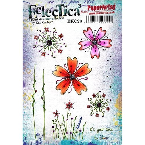 Paper Artsy ECLECTICA3 KAY CARLEY 20 Rubber Cling Stamp ekc20 Preview Image