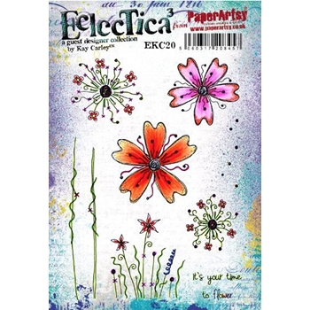 Paper Artsy ECLECTICA3 KAY CARLEY 20 Rubber Cling Stamp ekc20
