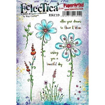 Paper Artsy ECLECTICA3 KAY CARLEY 19 Rubber Cling Stamp ekc19