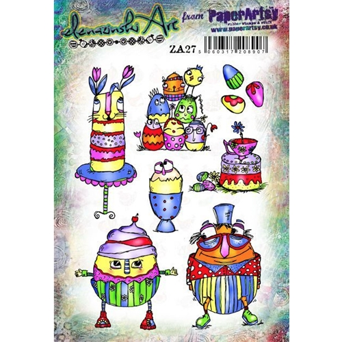 Paper Artsy ZINSKI Art 27 Rubber Cling Stamp za27 Preview Image