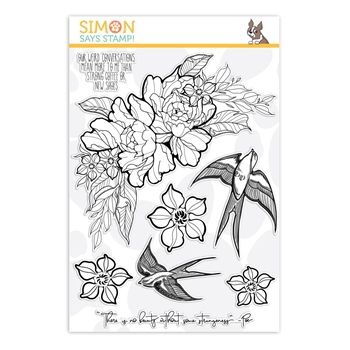 Simon Says Clear Stamps STRANGENESS sss101872 Good Vibes