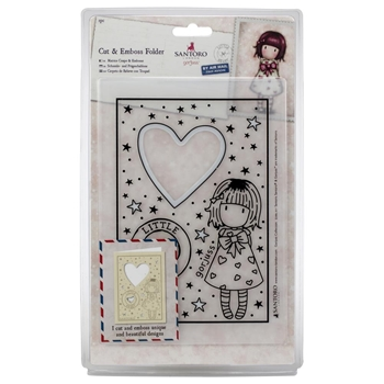 DoCrafts LITTLE HEART Cut & Emboss Folder Gorjuss go503014