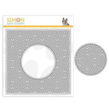 Simon Says Cling Rubber Stamp CENTER CUT GEOMETRIC PATTERN sss101856 Good Vibes