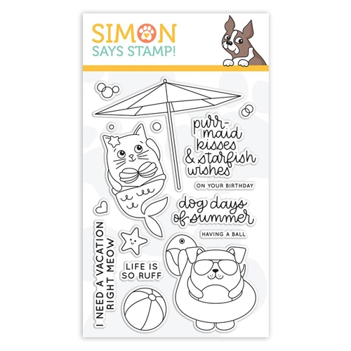 Simon Says Clear Stamps SUMMER CUDDLY CRITTERS sss101854 Good Vibes Preview Image