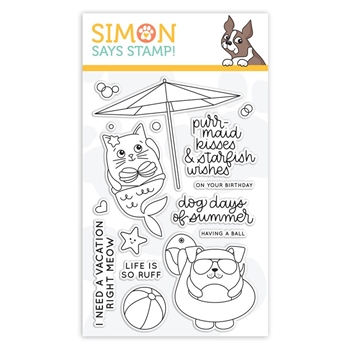 Simon Says Clear Stamps SUMMER CUDDLY CRITTERS sss101854 Good Vibes
