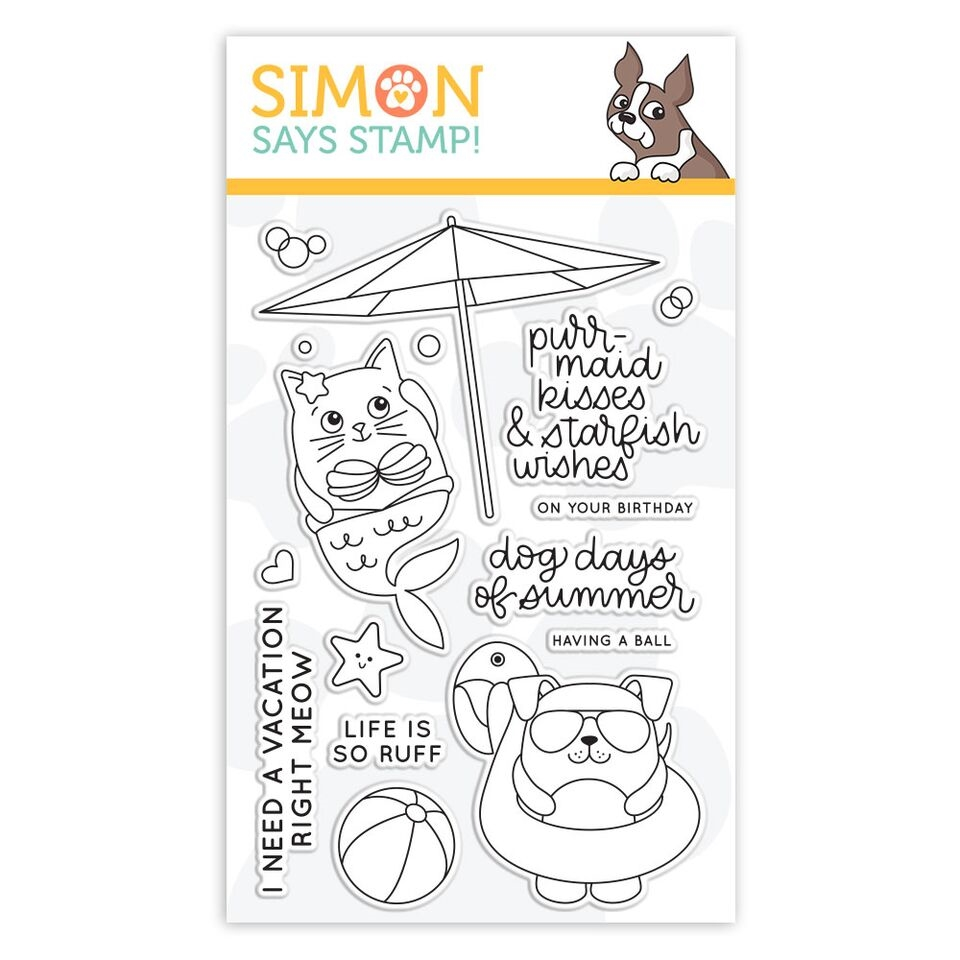 Simon Says Clear Stamps SUMMER CUDDLY CRITTERS sss101854 Good Vibes zoom image