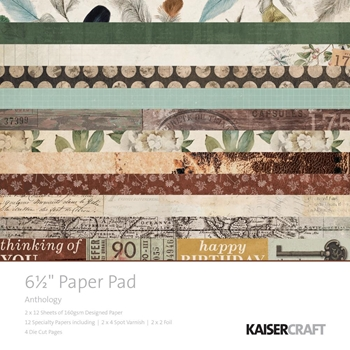 Kaisercraft ANTHOLOGY 6.5 x 6.5 Inch Paper Pad PP1045