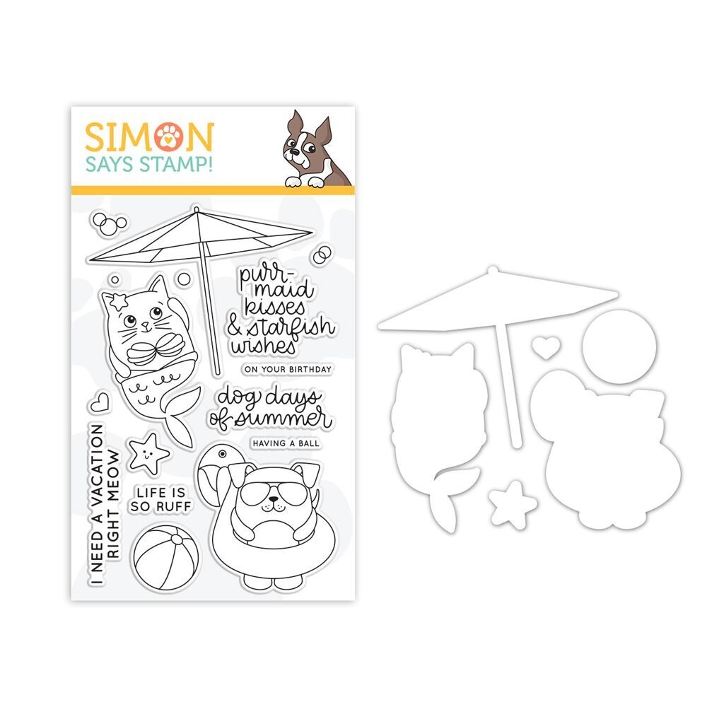 Simon's Exclusive Summer Cuddly Critters Stamp and Die Set