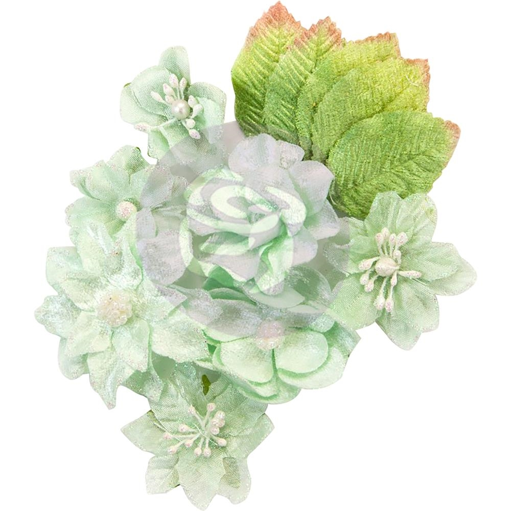 Prima Marketing FROSTED MINT Santa Baby Flowers 597344 zoom image