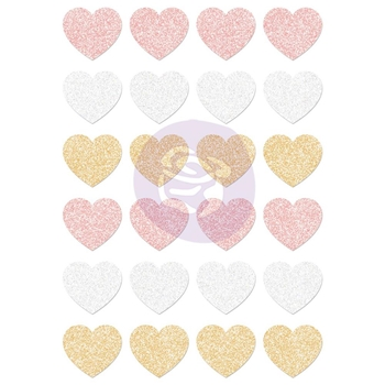 Prima Marketing SANTA BABY Glitter Hearts Stickers 993849