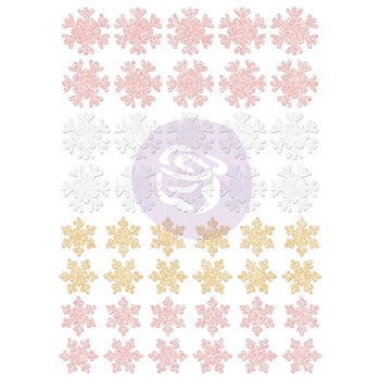 Prima Marketing SANTA BABY Glitter Snowflakes Stickers 993832
