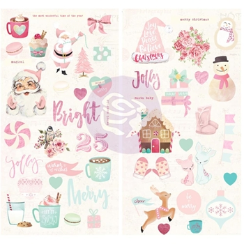 Prima Marketing SANTA BABY Chipboard Stickers 993580