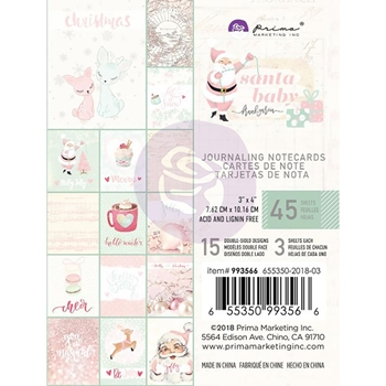 Prima Marketing SANTA BABY 3 X 4 Journaling Notecards 993566
