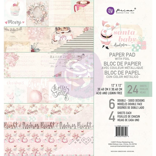 Prima Marketing SANTA BABY 12 x 12 Collection Kit 993528 Preview Image
