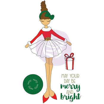 Prima Marketing MERRY Julie Nutting Christmas Stamp 912376