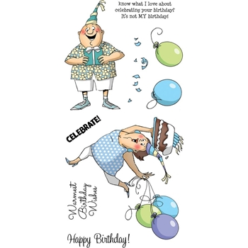Art Impressions BIRTHDAY WISHES Clear Stamps AICS36