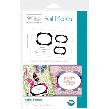 Therm O Web Gina K Designs LABEL BORDERS Foil-Mates Sheets 18099