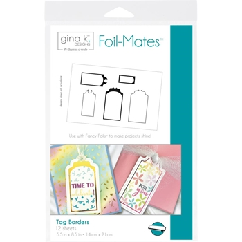 Therm O Web Gina K Designs TAG BORDERS Foil-Mates 18100