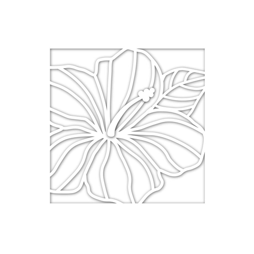 Simon Says Stamp Hibiscus Frame Die