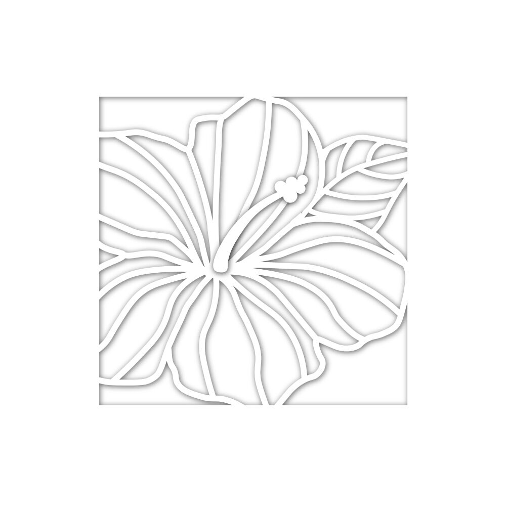 Simon Says Stamp HIBISCUS FRAME Wafer Dies sssd111847 Good Vibes zoom image
